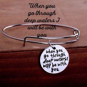 Inspirational Spiritual adjustable silver bracelet